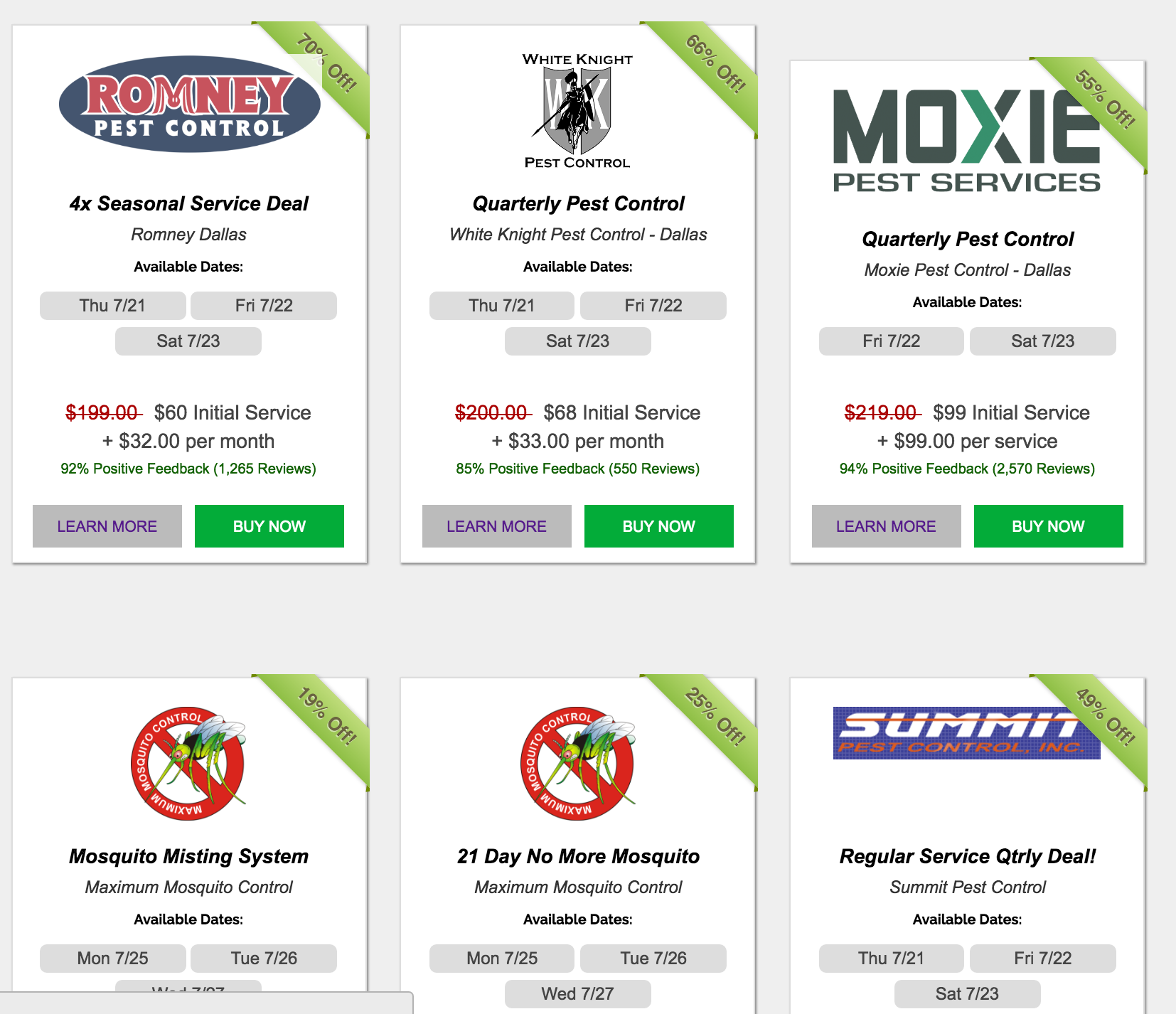 compare Pest Control Deals